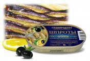 Новинка от компании «Главпродукт»  – крупные шпроты, копченые в дровяной печи ГОСТ 280-2008