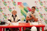 Эдгард Запашный, Алексей Немов и Татьяна Навка, звёздные послы LG  в области донорства, выступили на Форуме «Селигер-2011»