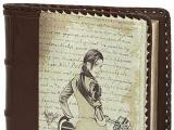 Ежедневник с печатью на коже