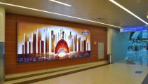 Indoor-кампания Martell в аэропорту Шереметьево