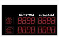 Электронное табло с курсом валюты