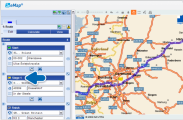 Расчет расстояния  c интегрированной электронной картой