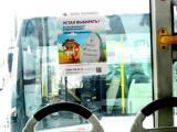 Реклама в салоне автотранспорта (г. Тюмень)